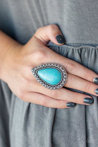 Paparazzi Accessories Santa Fe Storm - Blue Rings
