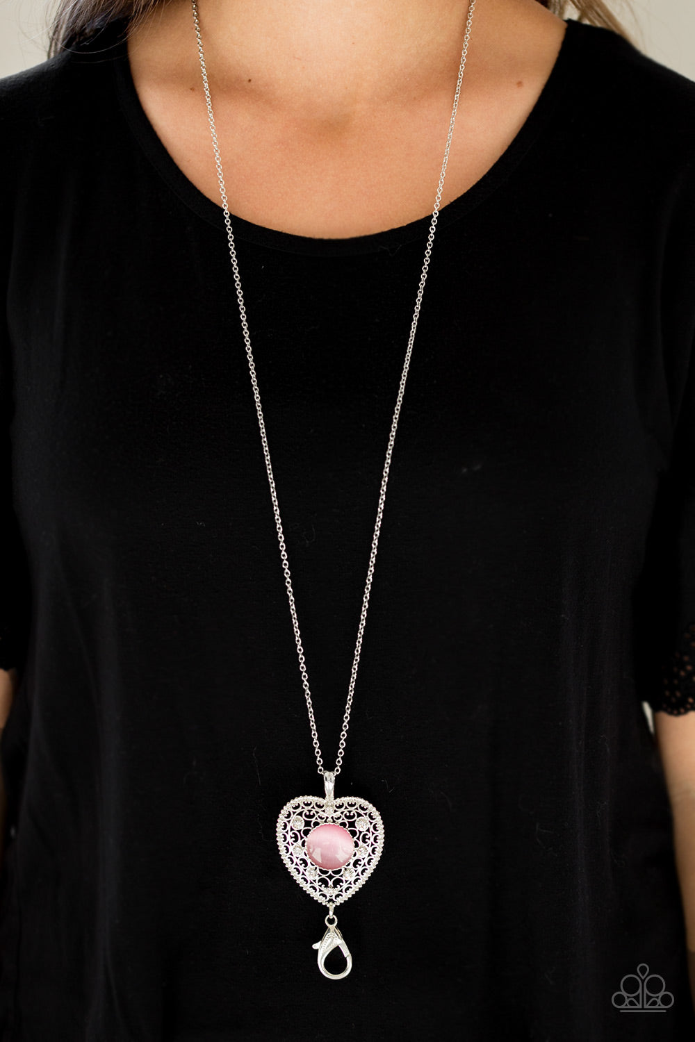 Paparazzi Accessories One Heart - Pink Lanyard Necklaces - Lady T Accessories