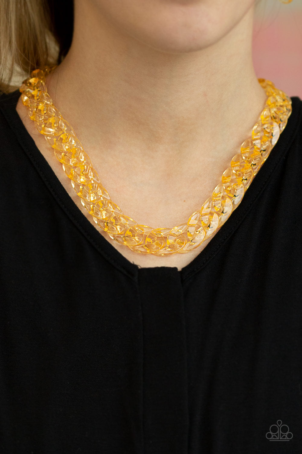 Paparazzi Accessories Put It On Ice - Gold Necklaces - Lady T Accessories