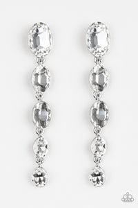 Paparazzi Accessories Red Carpet Radiance - White Earrings - Lady T Accessories