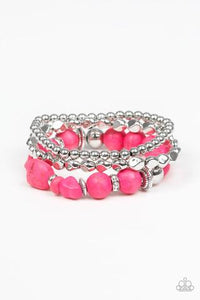 Paparazzi Accessories Rural Restoration - Pink Bracelets
