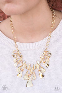 Paparazzi Accessories The Sands Of Time - Gold Blockbuster Necklaces