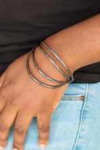 Load image into Gallery viewer, Paparazzi Accessories Take a Catwalk - Black Bracelets  - Lady T Accessories