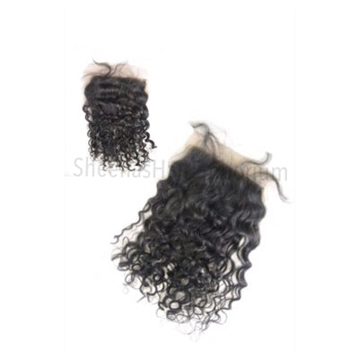 Virgin Indian Curly Lace Closure