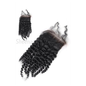 Virgin Indian Kinky Curly Lace Closure - Sheena's Hair Emporium