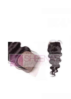 Virgin Indian Body Wave Silk Closure