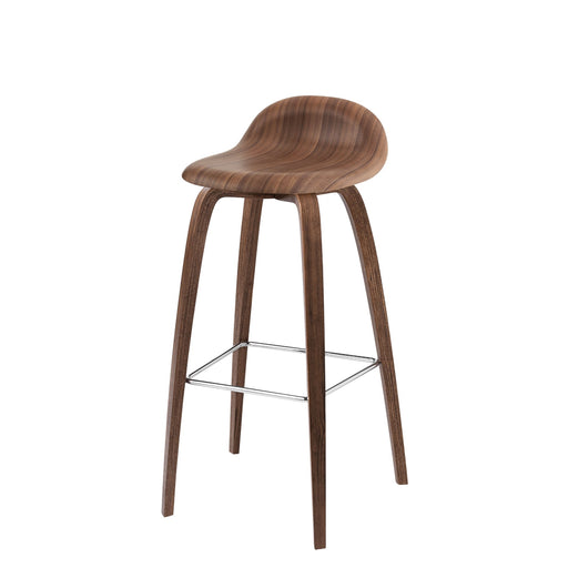 3D Counter/Bar Stool - upholstered, Wood
