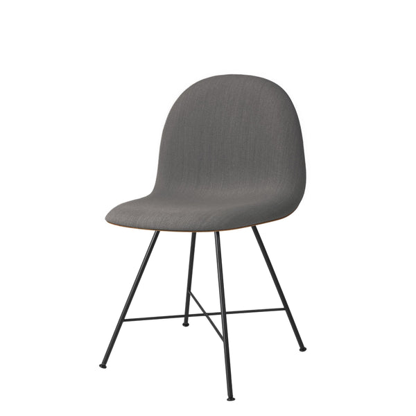 3D Dining Chair - Front Upholstered, Center Base