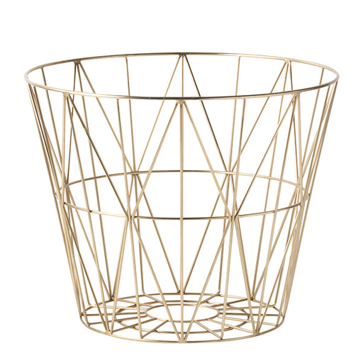 Wire Basket, Brass | RS