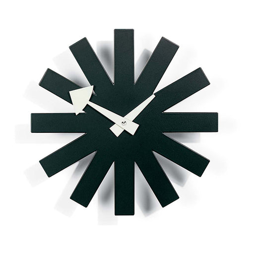 Asterisk Clock in Black