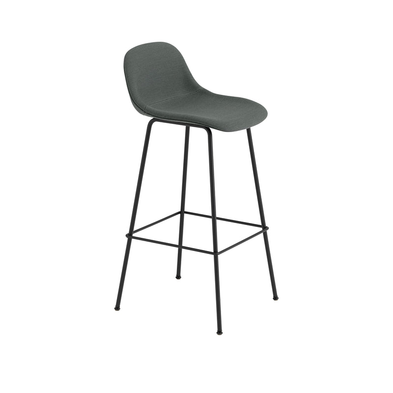 Fiber Bar Stool w. Backrest - Tube Base H75