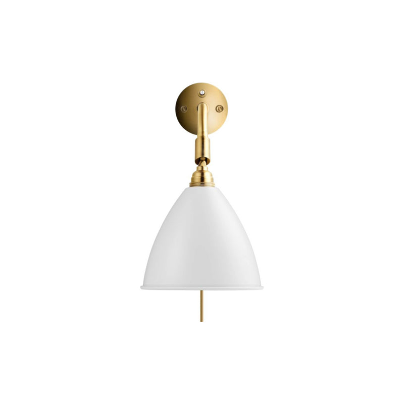 Bestilte BL7 Wall Lamp, Matt White W/ Brass | Stock