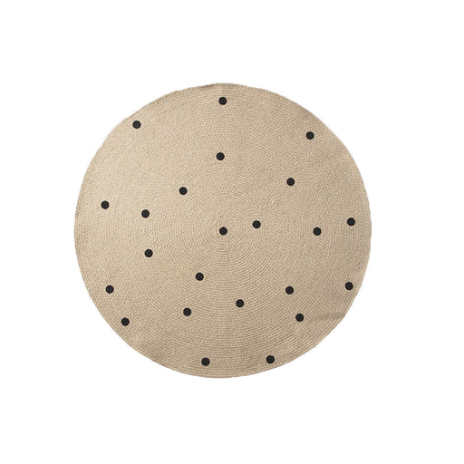 Jute Carpet - Black Dots | Stock