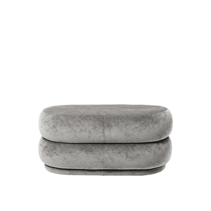 Pouf Oval Faded Velvet  - Medium