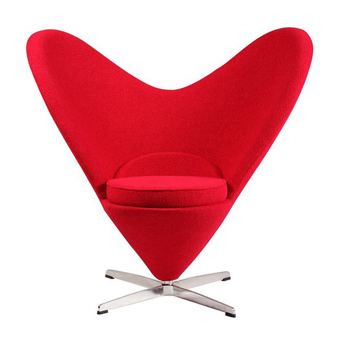 Heart Cone Chair, Red | Outlet