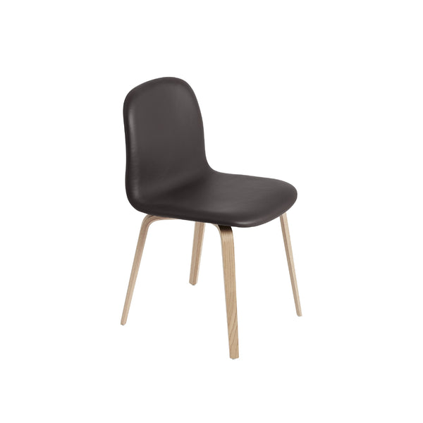 Visu Wide Chair - Wood Base, Seat Upholstered