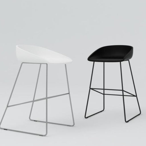 About A Stool 38 Low Black / White Furniture