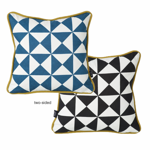 Little Geometry Cushion, Blue | Stock