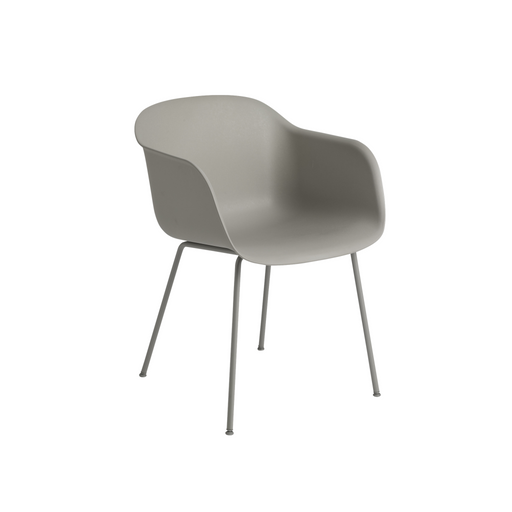 Fiber Armchair - Tube Base Grey Furniture
