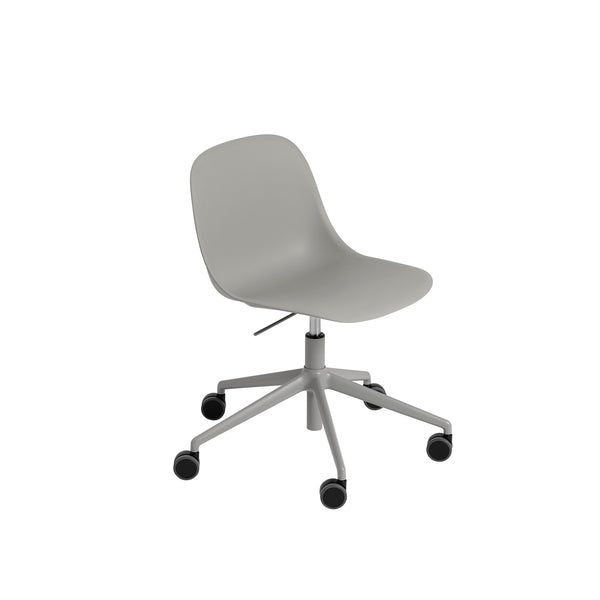 Fiber Side Chair - Swivel Base w. Castors & Gas Lift