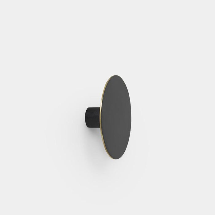 Hook Large / Black Brass Home Accessories