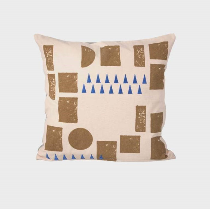 Block Cushion, Rose | Stock