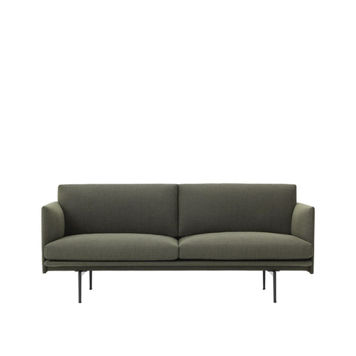 Outline Sofa 2-Seater / Green (Fiord 961) Furniture