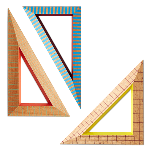 Wooden Ruler Triangle | Stock