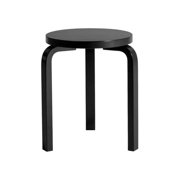 Stool 60 Black Lacquered / Furniture