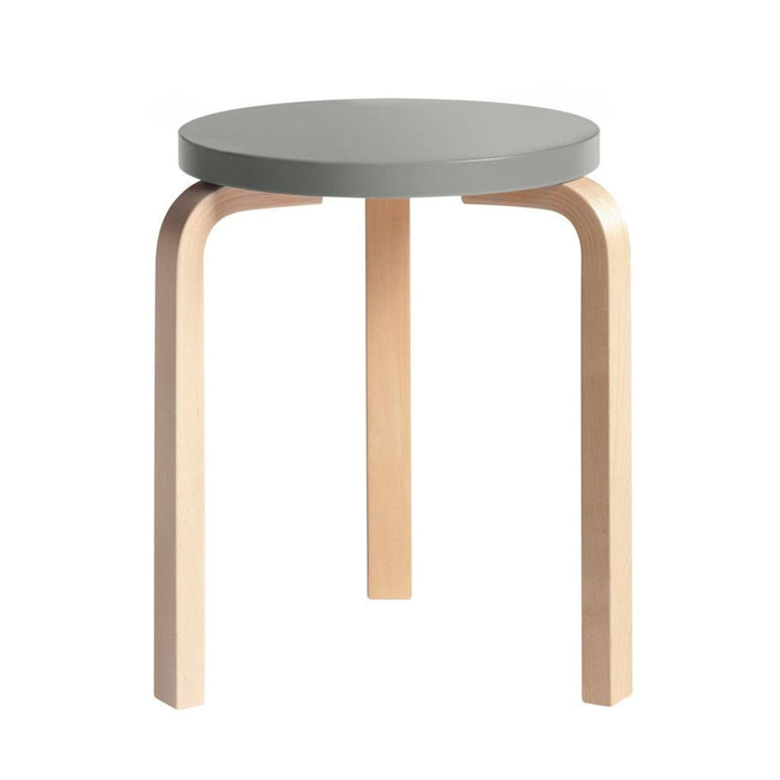 Stool 60 Natural Lacquered / Grey Furniture