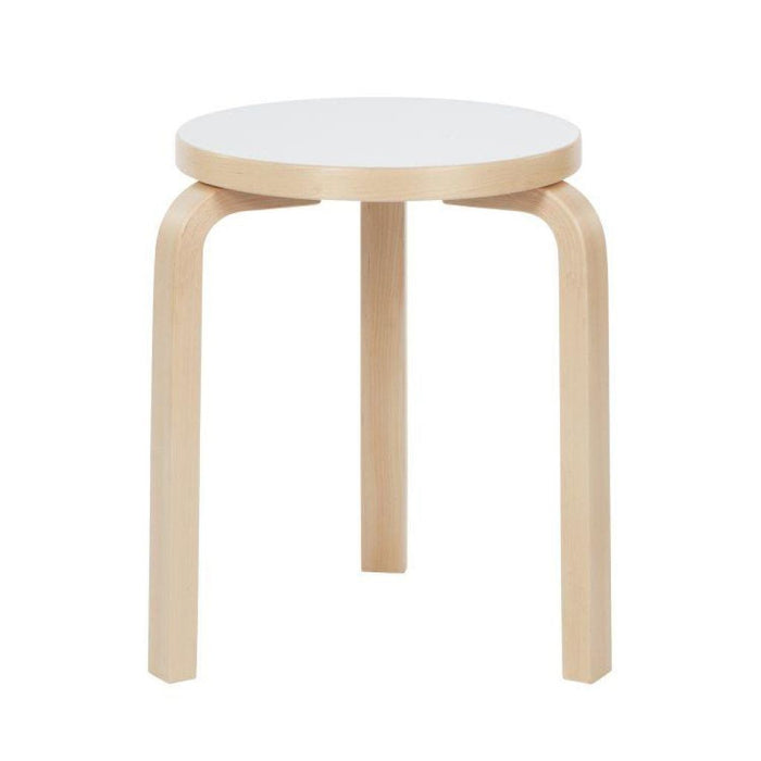 Stool 60 Natural Lacquered / Iki White Hpl Edge Birch Furniture