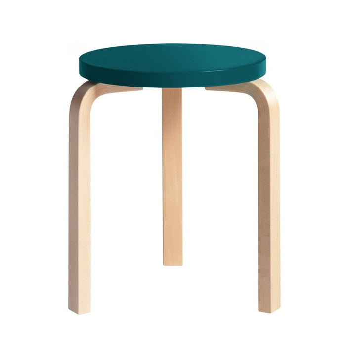 Stool 60 Natural Lacquered / Petrol Furniture