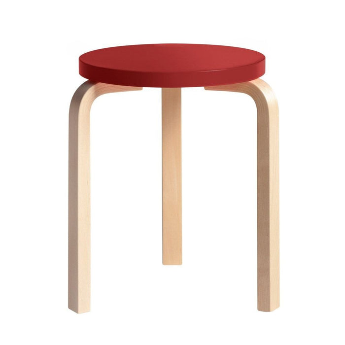 Stool 60 Natural Lacquered / Red Furniture