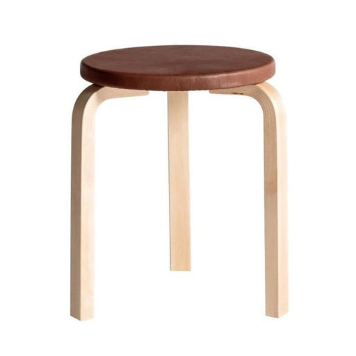 Stool 60 | S Birch Clear Lacquer / Sörensen Prestige Leather Cognac Furniture