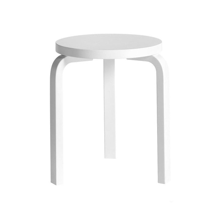 Stool 60 White Lacquered / Furniture