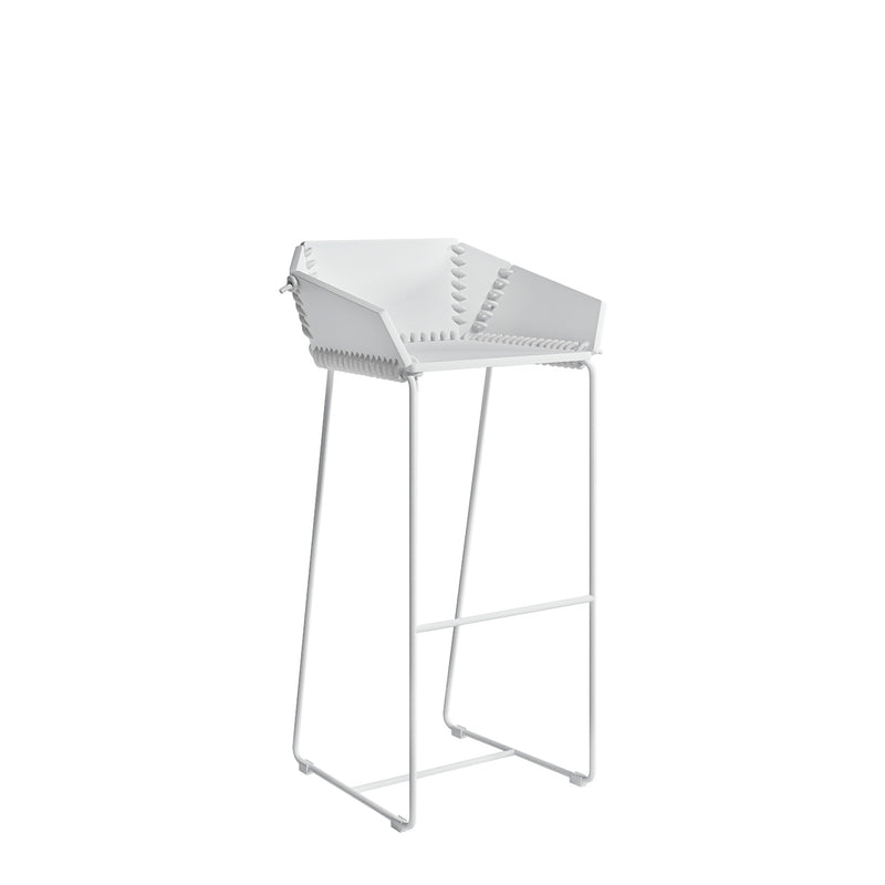 Textile High Stool w/ Backrest