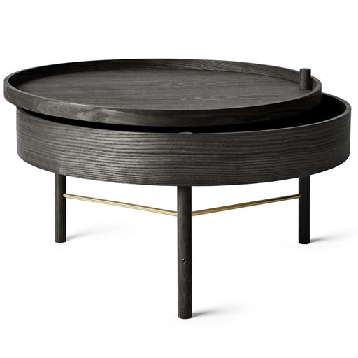 Turning Coffee Table Black Ash/brass Furniture