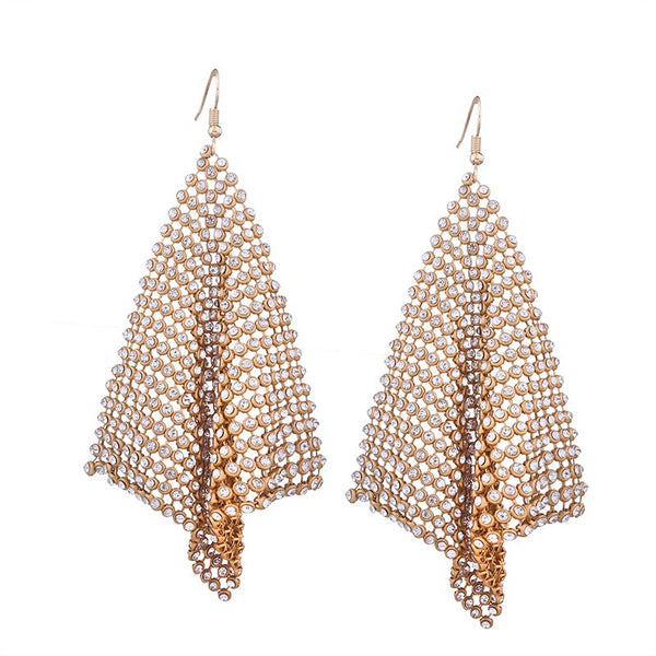Plain Alloy Diamante Holiday Earrings