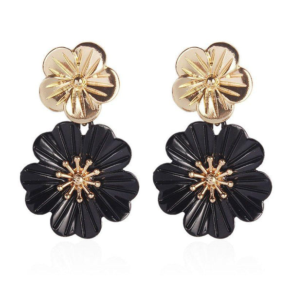 Floral Alloy European Prom Earrings