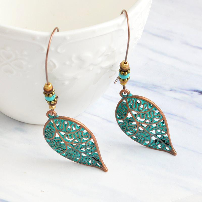 Leaf European Alloy Prom Earrings