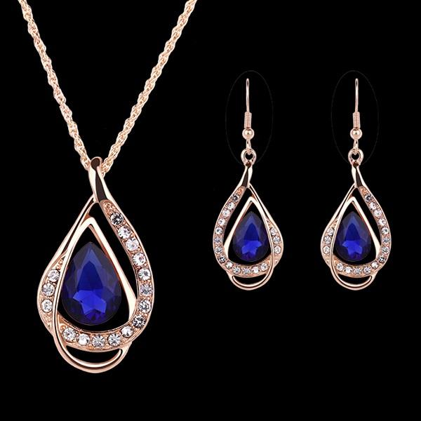 Earrings Gemmed European Engagement Jewelry Sets