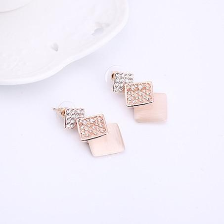European Diamante Earrings Engagement Jewelry Sets