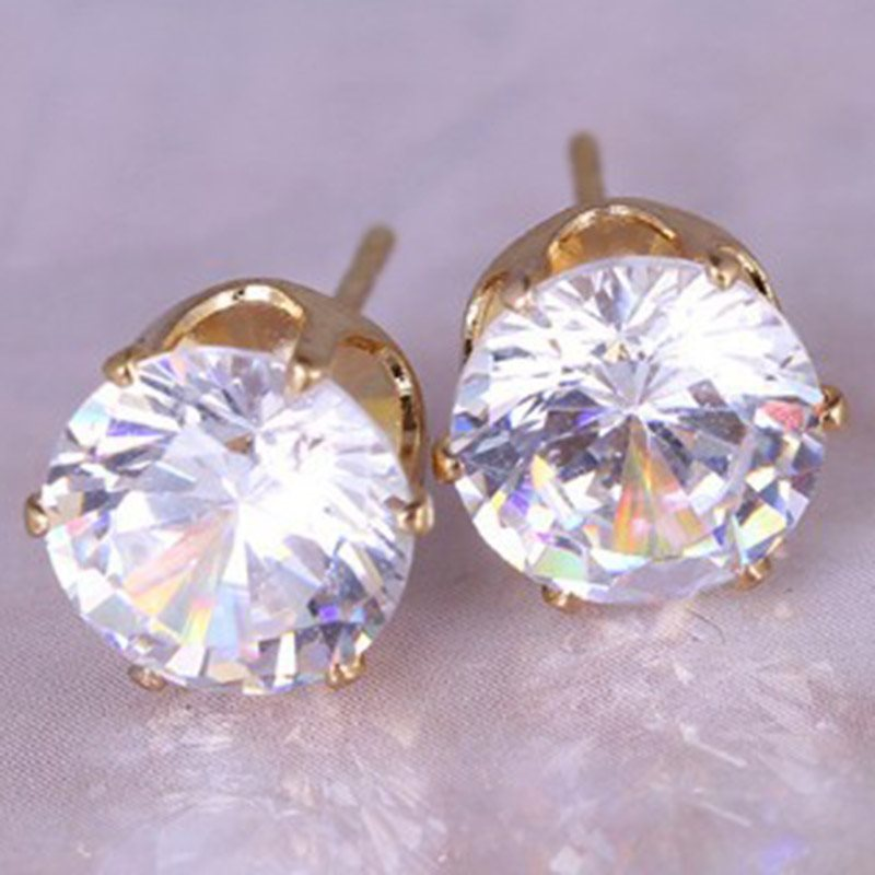 E-Plating Geometric Alloy Prom Earrings