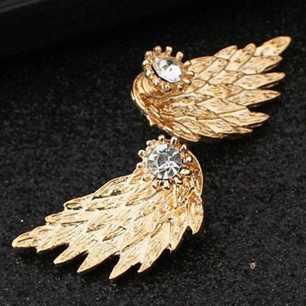 Wing Alloy E-Plating Anniversary Earrings