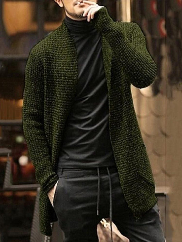 Mid-Length Plain Wrapped Casual Sweater