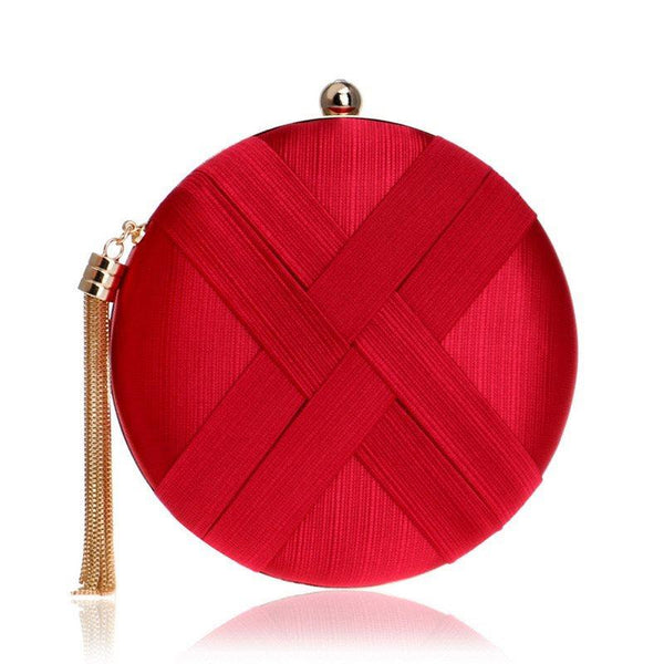 Versatile Velour Circular Clutches & Evening Bags