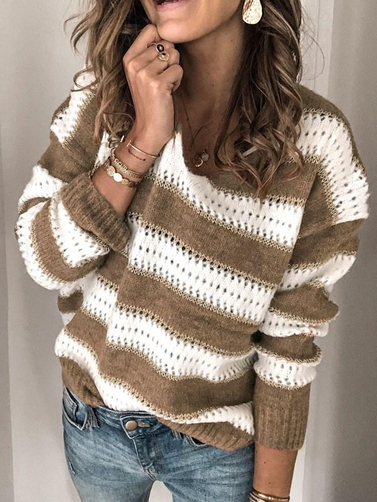 Regular Regular Long Sleeve Loose Sweater