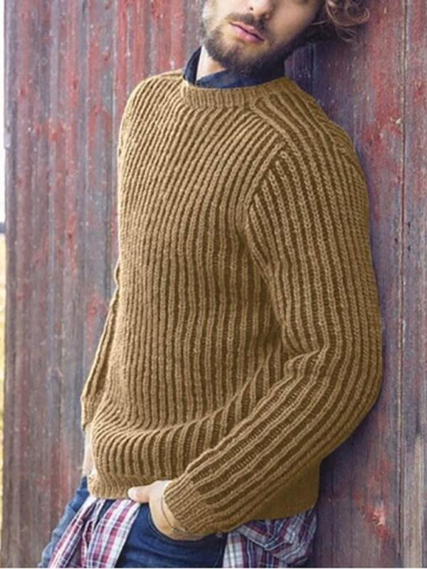 Plain Stand Collar Standard Casual Winter Sweater