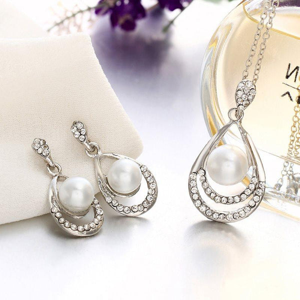 European Plain Necklace Gift Jewelry Sets