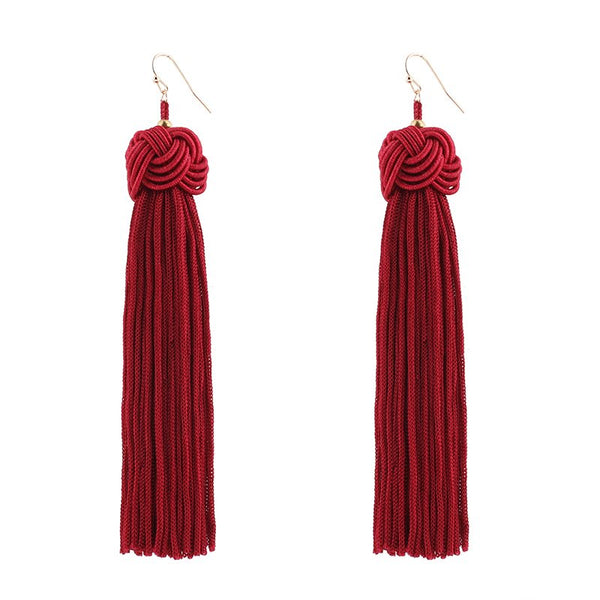 Alloy Tassel Holiday Earrings